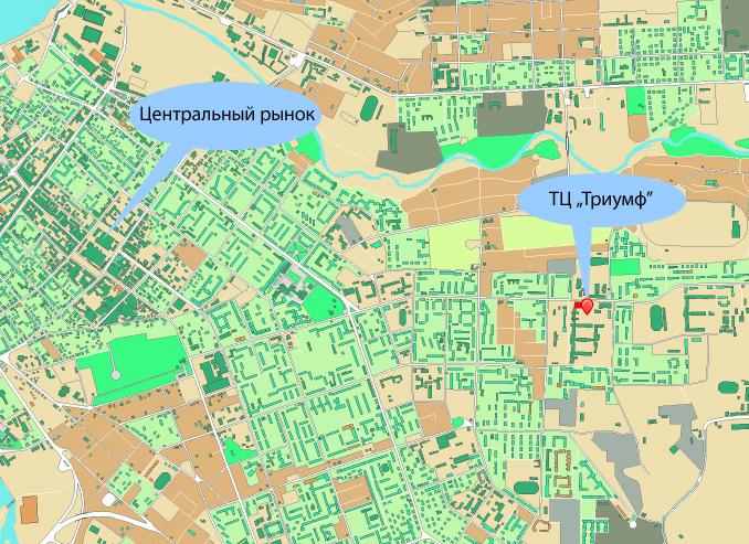 Схема проезда. Город Иркутск